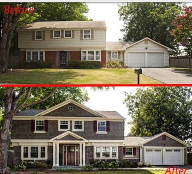 A Great Reference To Show Options With Changing The Roof Line Home Exterior Makeover Exterior House Renovation House