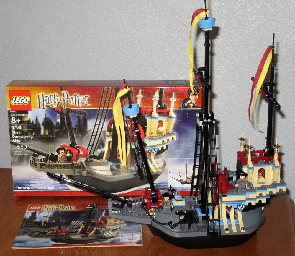 Lego 4768 Harry Potter Durmstrang Ship 2 Minifigs Complete W Instr Box Lego Lego Harry Potter Harry Potter The ship could travel underwater, though, in practice, the students steered while headmaster igor karkaroff stayed in his cabin. lego 4768 harry potter durmstrang