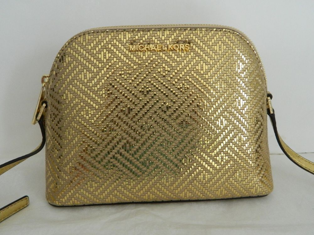 54f566427c5c ... Women s Bags   Handbags by Malvina Coffey. NWT MICHAEL KORS ADELE GOLD  LEATHER MED DOME CROSSBODY BAG 35H8GAFC2M  fashion  clothing