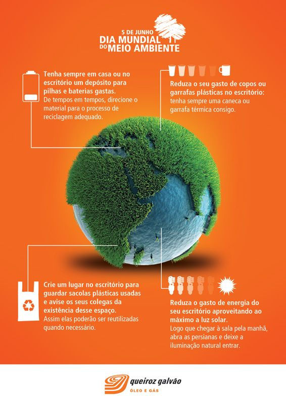 Poster with tips on how to do your part on preserving nature for an oil & gas company's campaign for the World Environment Day.