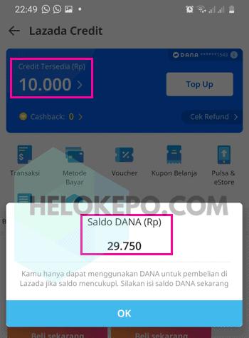 Cara Bayar Lazada Pakai Dana Gratis Admin Helokepo Di 2021 Kartu Aplikasi Kupon