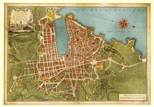 Carte De Marseille 1791 Campen Cartes Plans Marseille Carte De