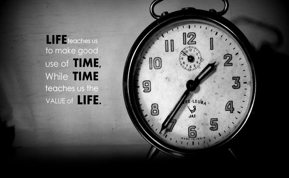 Great Importance Of Time HD Wallpaper