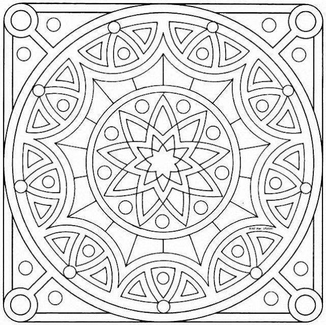 mandalas cuadrados mariposas romanticos para pintar - Buscar con ...
