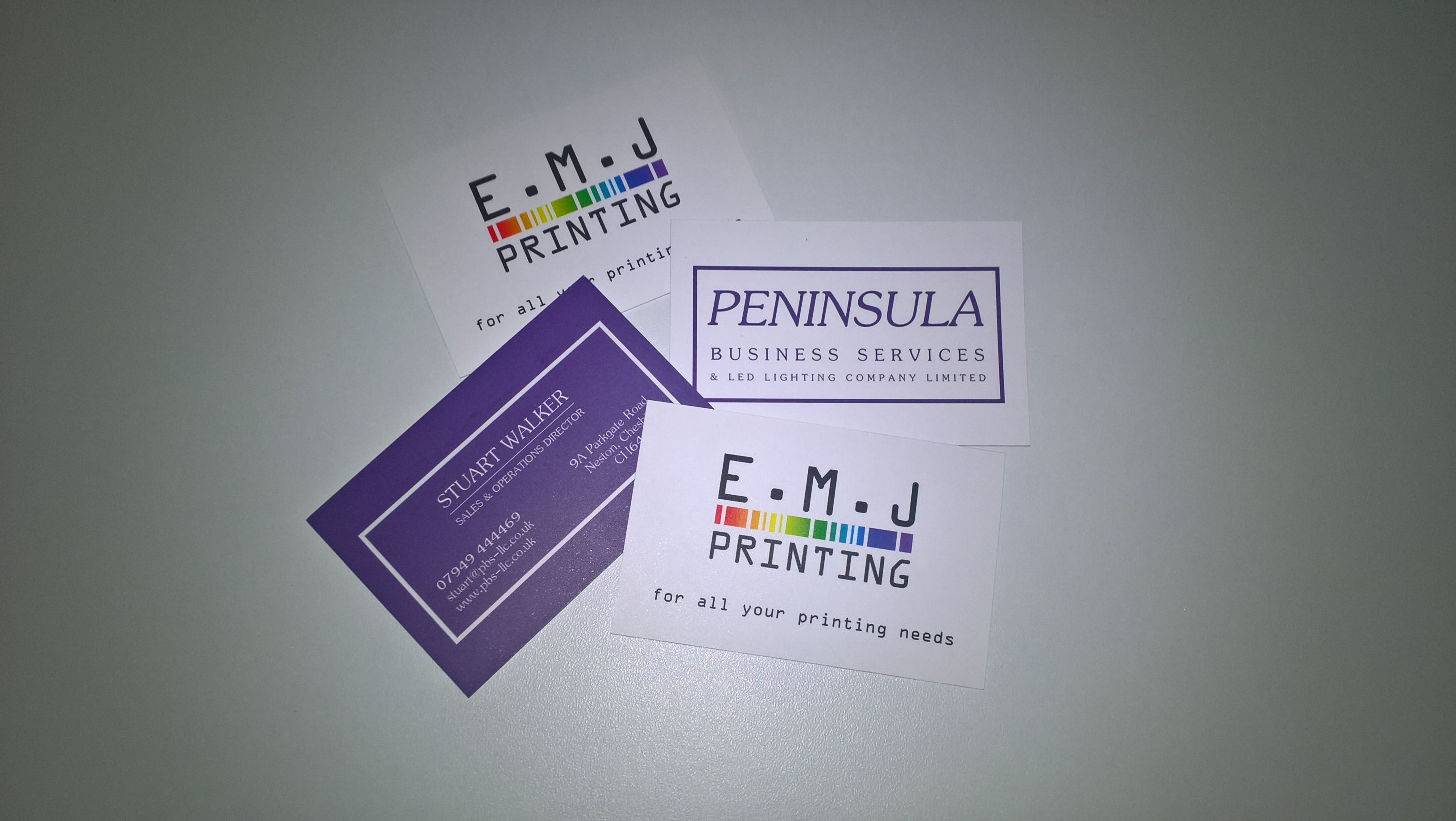 Business cards, free design, printing, free delivery by EMJ Printing ...