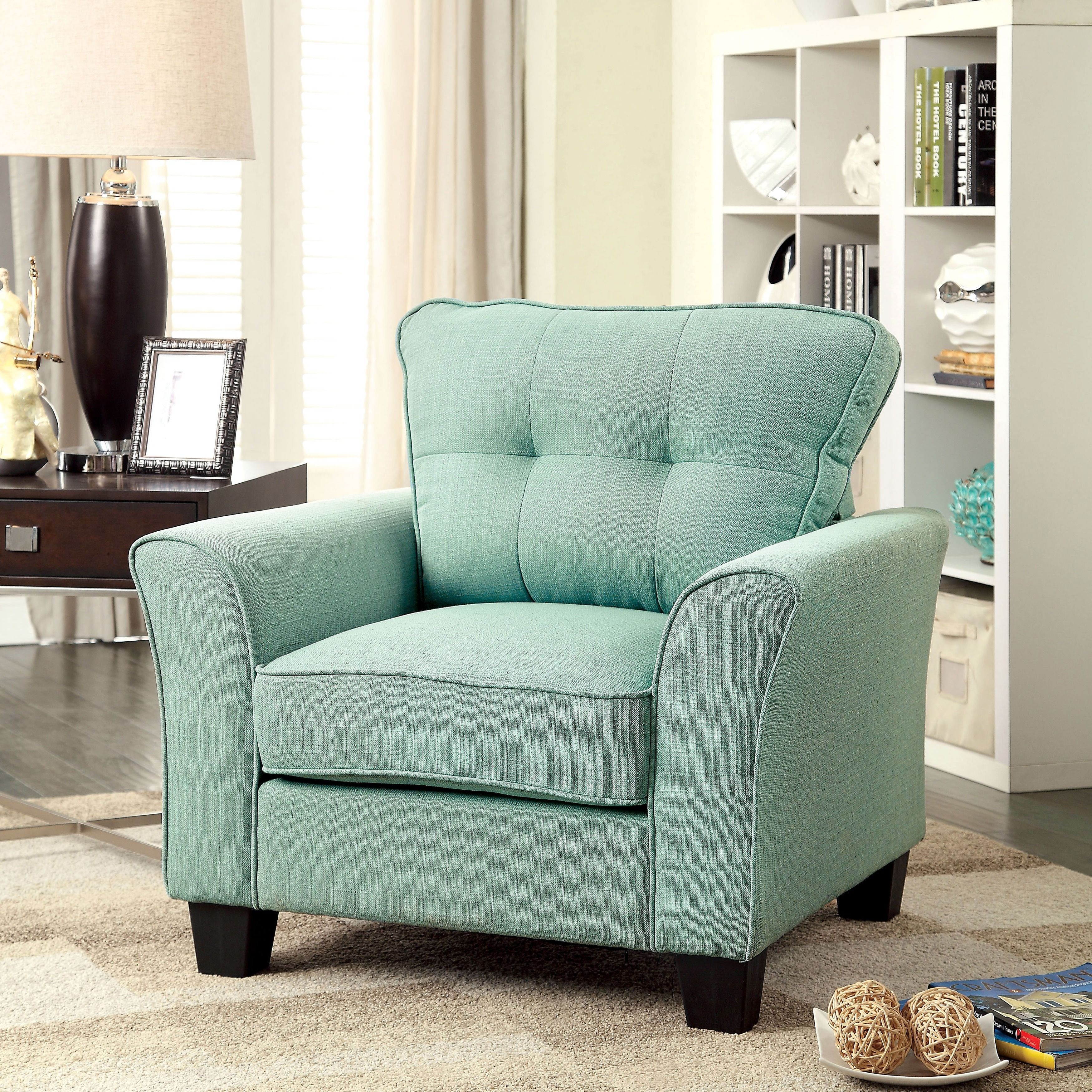 Furniture Of America Primavera Modern Linen Chair   Overstock™ Shopping    Great Deals On Furniture Of America Living Room Chairs