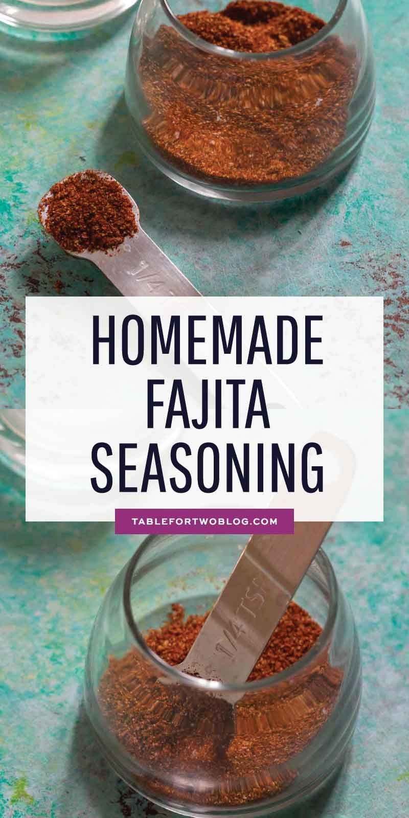 Fajita Seasoning - Homemade Fajita Seasoning Recipe for Chicken/Steak #homemadefajitaseasoning