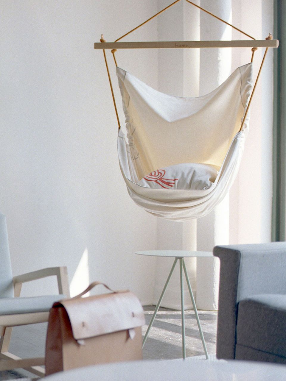 Hamac urbain design hamac intérieur ou extérieur fait avec des cordes descalades recyclées