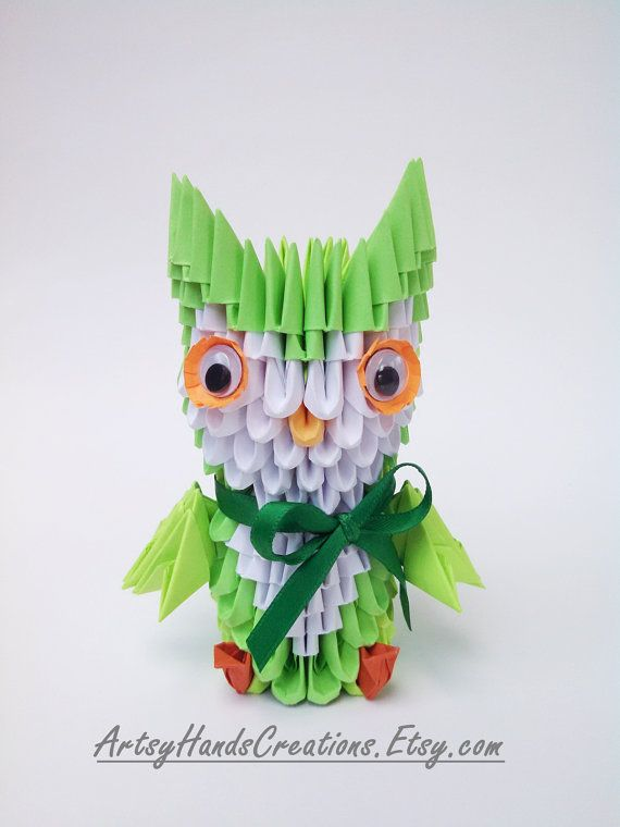3d Origami Miniature Owl Mini Small Saint