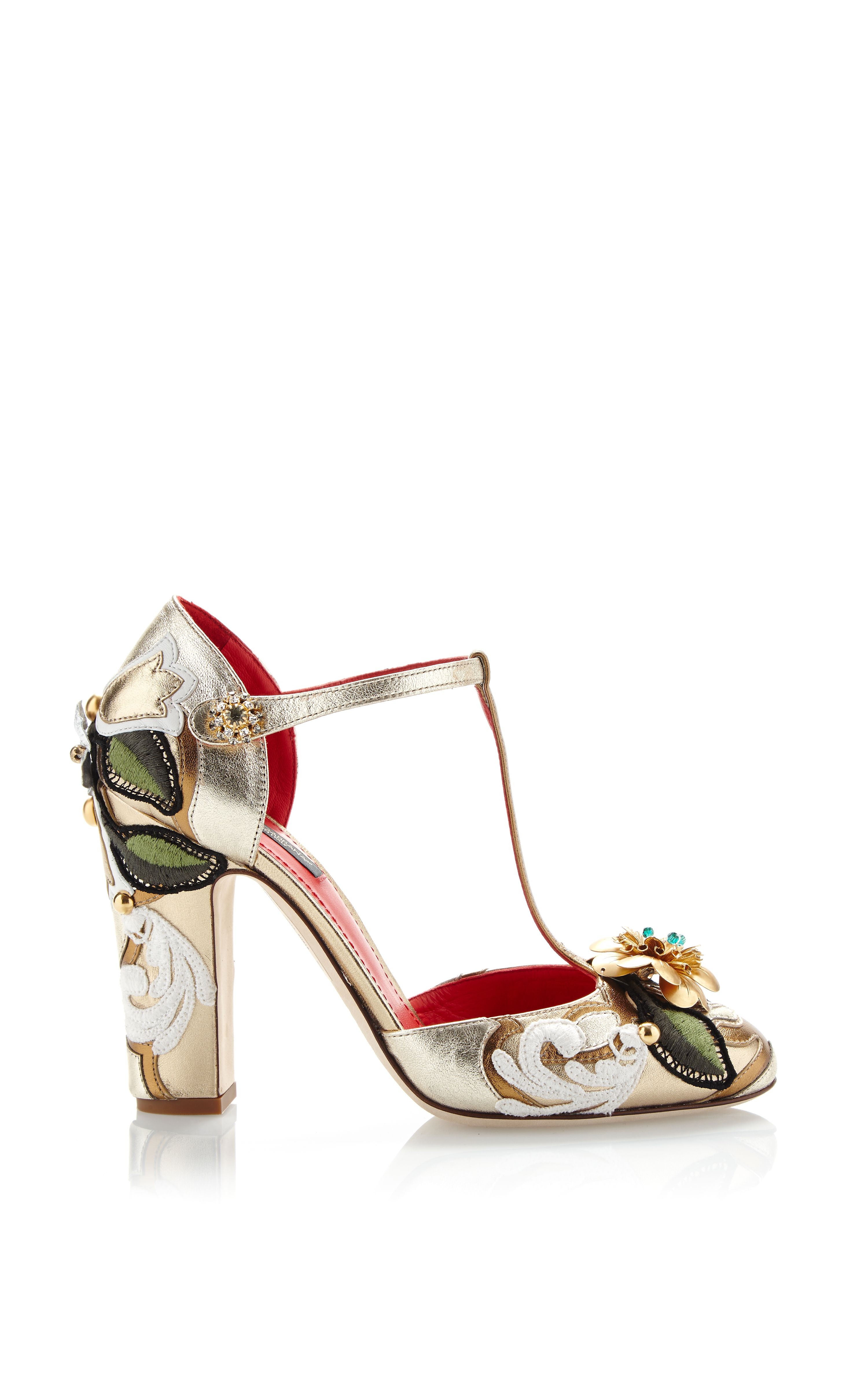 Dolce & Gabbana Metallic Leather Slingback Sandals many kinds of cheap online unRbvi