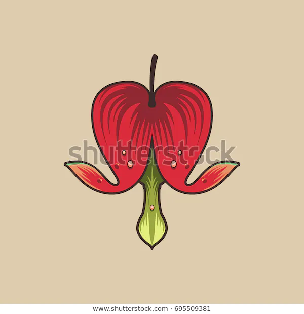 Pin By Farijazz On Flowers Visual Library In 2020 Flower Icons Vector Illustration Bleeding Heart