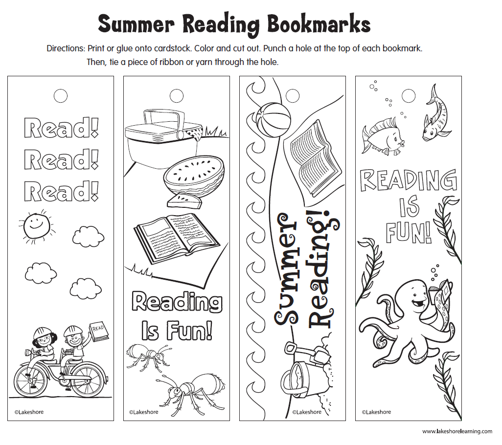 encourage summer reading with this lakeshore printable that features