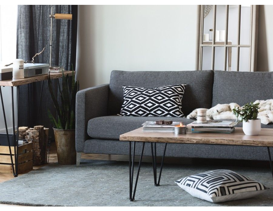 Best Carine 3 Seater Sofa Dark Grey Coffee Table Coffee 400 x 300
