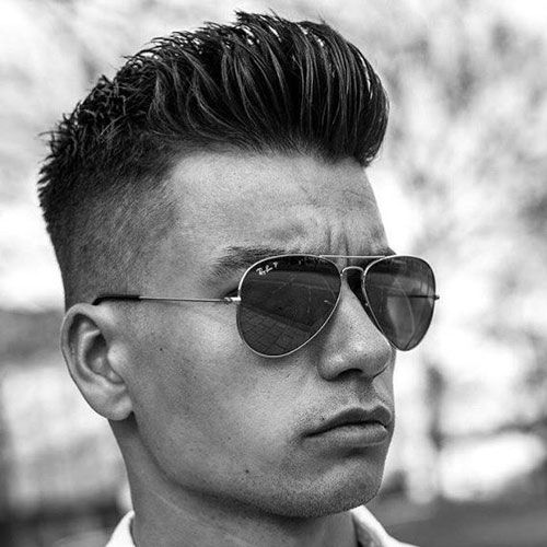 Businessman Haircut   High Fade With Brush Up
