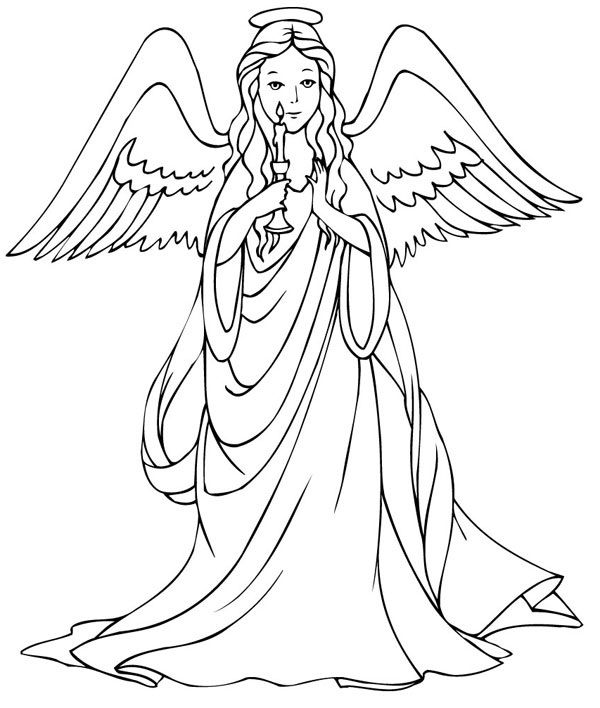 Free Printable Angel Coloring Pages For Kids | Angel, Free ...