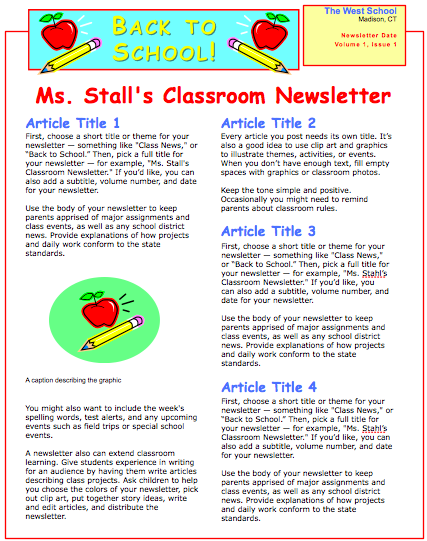 school newsletter template for pages ipages templates to download