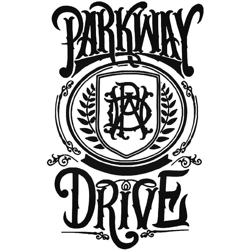 Parkway Drive Pwd Logo Vinyl Decal Sticker Parkway Drive Vinyl Decal Stickers Band Logos
