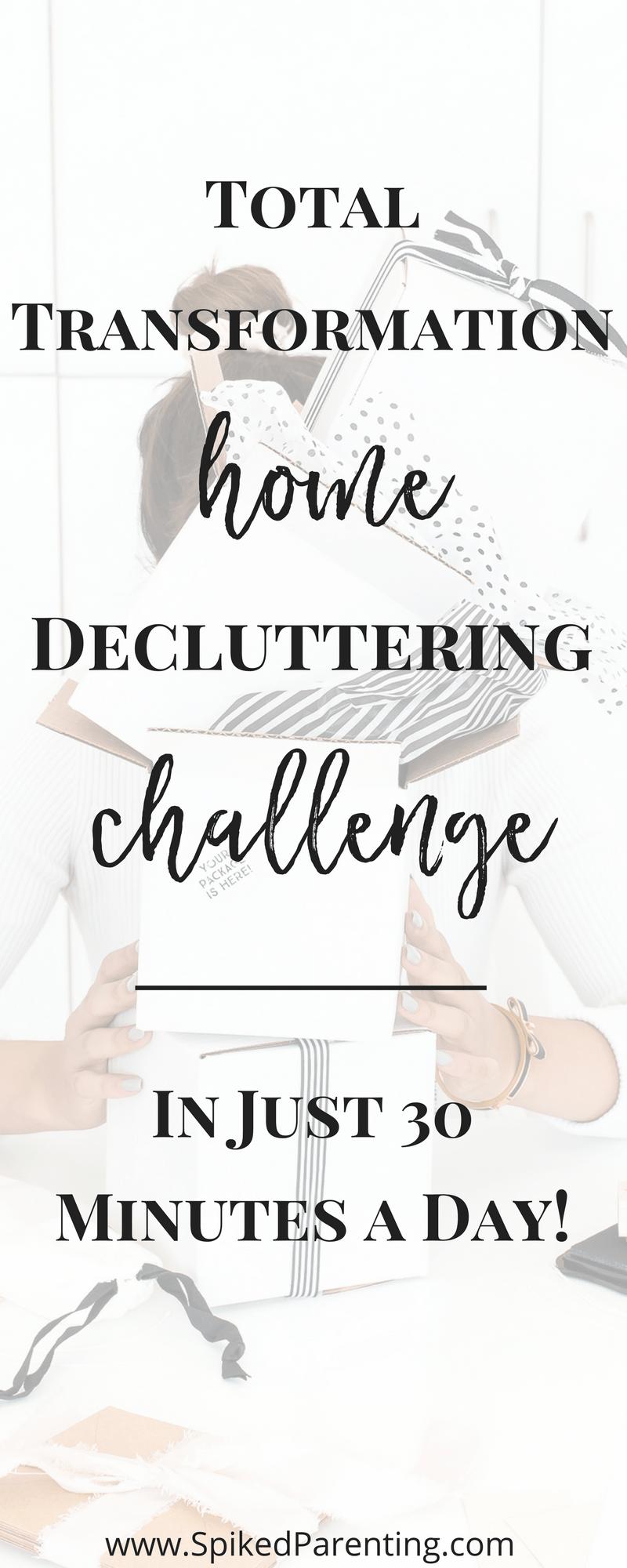 Workbooks total transformation workbook : Total Transformation Home Decluttering Challenge   Declutter ...