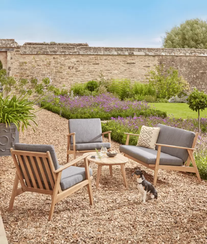 Elegant garden tables and chairs for warm days sitting outdoors