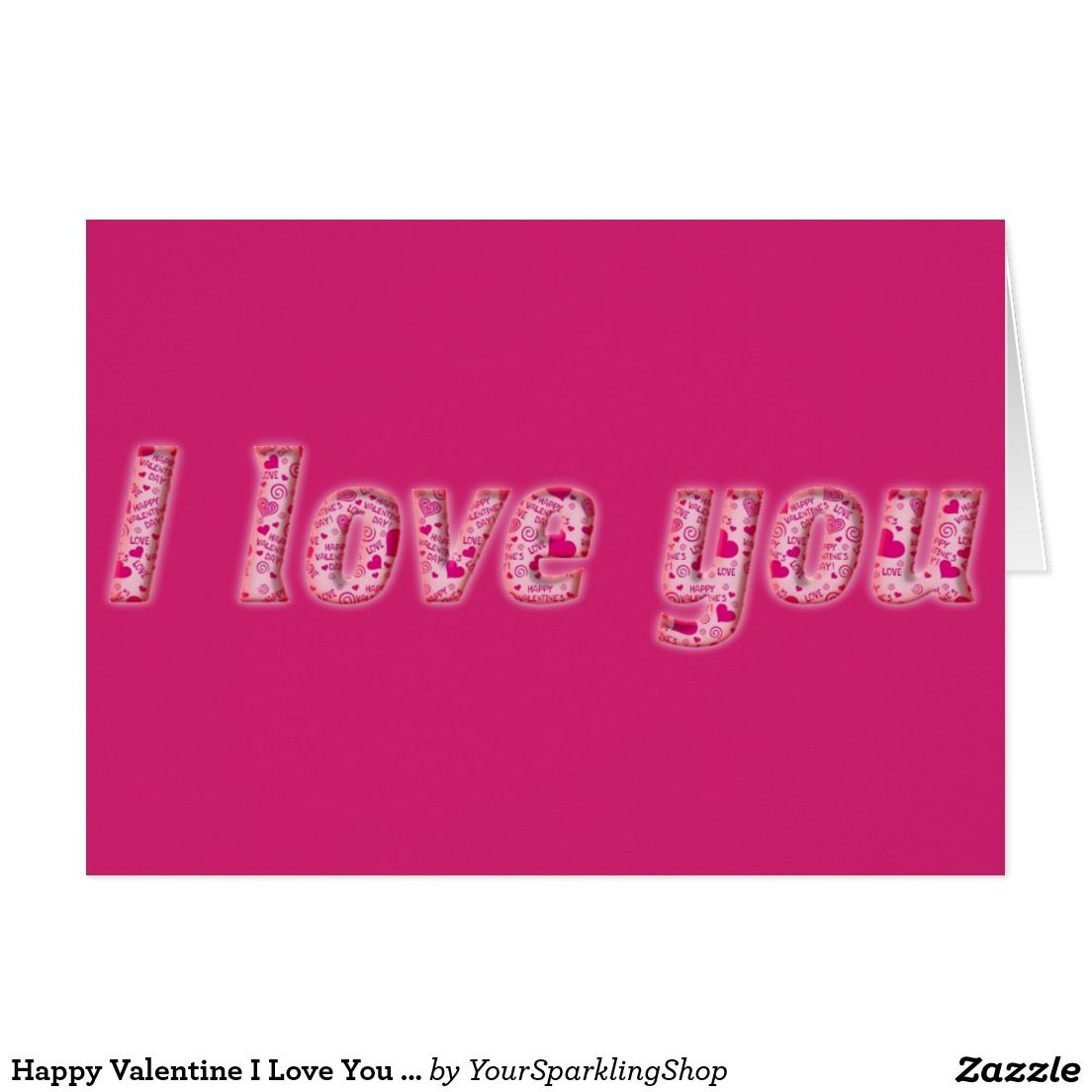 Happy Valentine I Love You Hearts Typography
