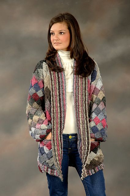 Entrelac Knitting Patterns Sweater : 1800 Long Entrelac Cardigan pattern by Vanessa Ewing Ravelry and Patterns