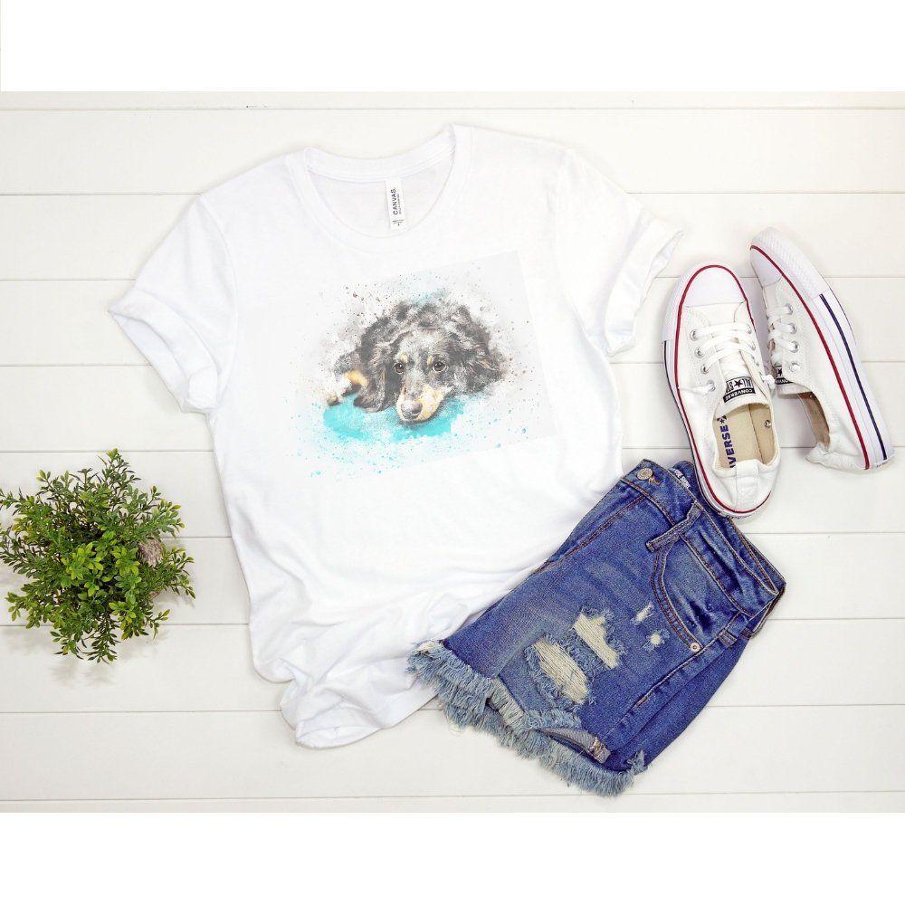Animal Dog Shirt For Her Watercolor Print Shirt Animal