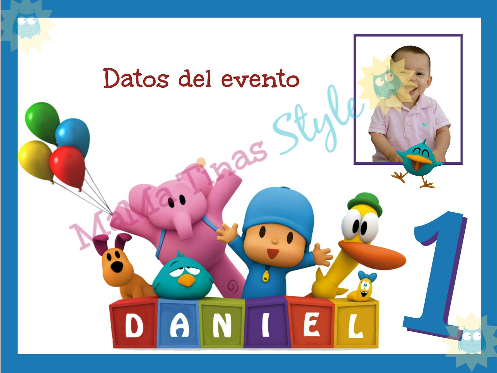 Tarjeta Invitacion fiesta Pocoyo!! Personalizada.. en digital o ...