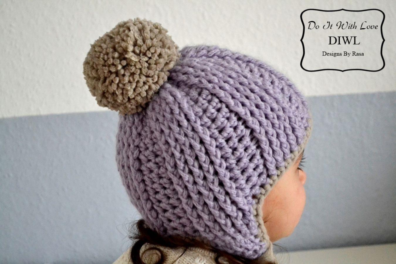 Häkelanleitung Boshi Mütze Purple Dream mit Bommel | Crochet, Babies ...