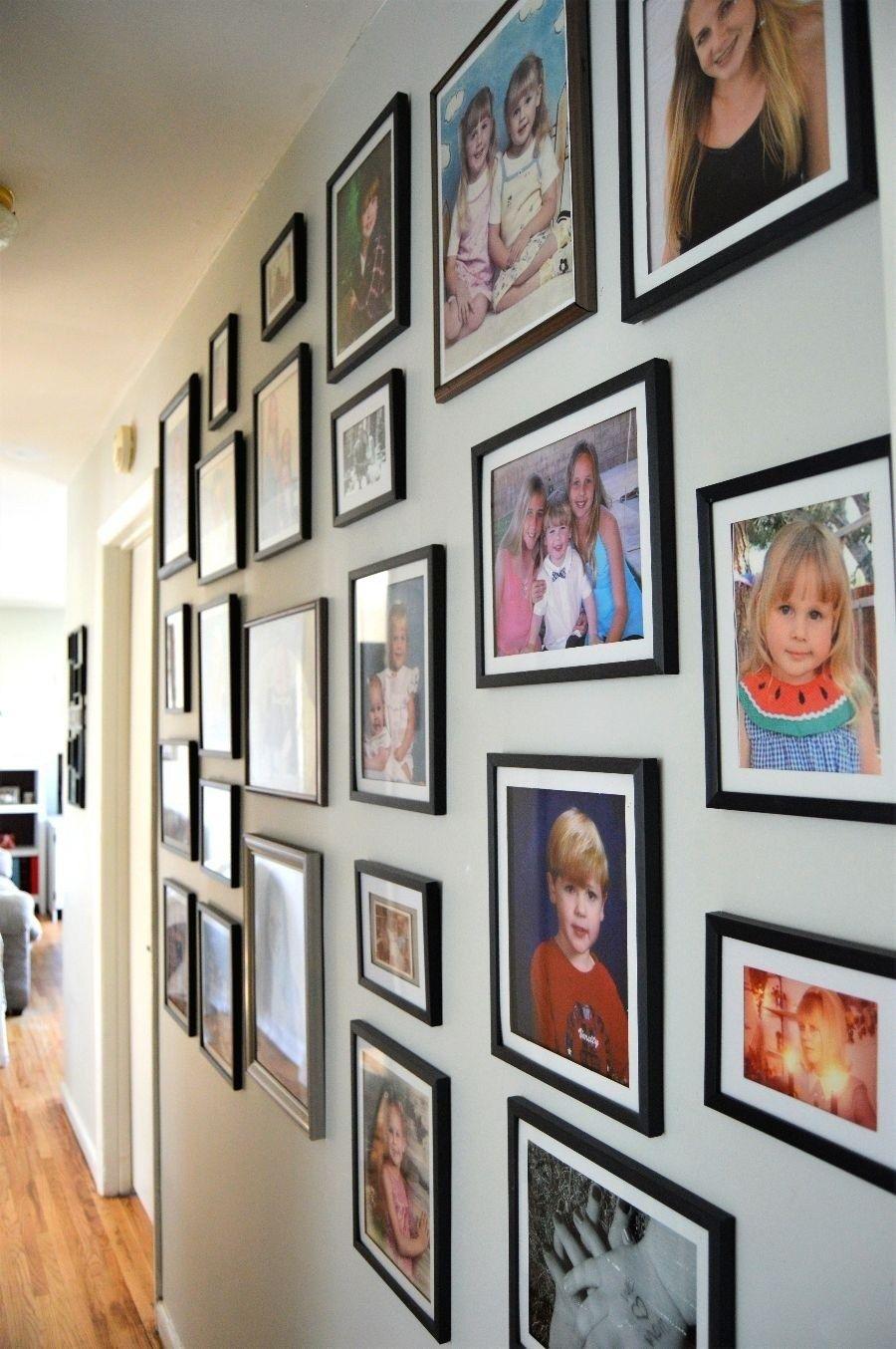 Dollar Tree Gallery Wall Gallery Wall Modern Gallery Wall Decorate Narrow Hallway