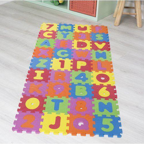 Zoomie Kids Puzzle Aleah 36 Piece Floor Mat Floor Mats Puzzles For Kids Outdoor Floor Mats