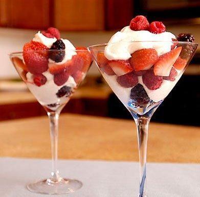 Receta de Coctel de fresas con crema shantilly