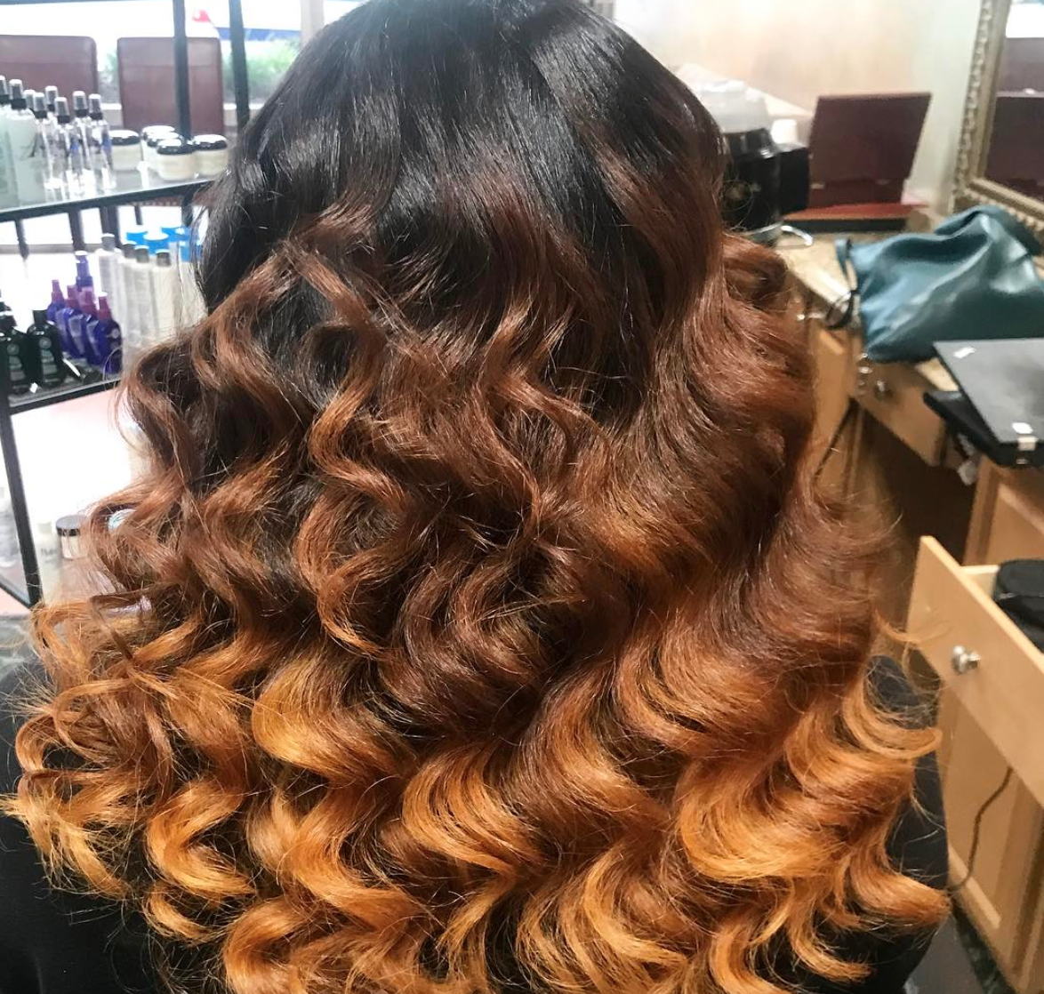 Beautiful ombre via salonchristol blackhairinformation