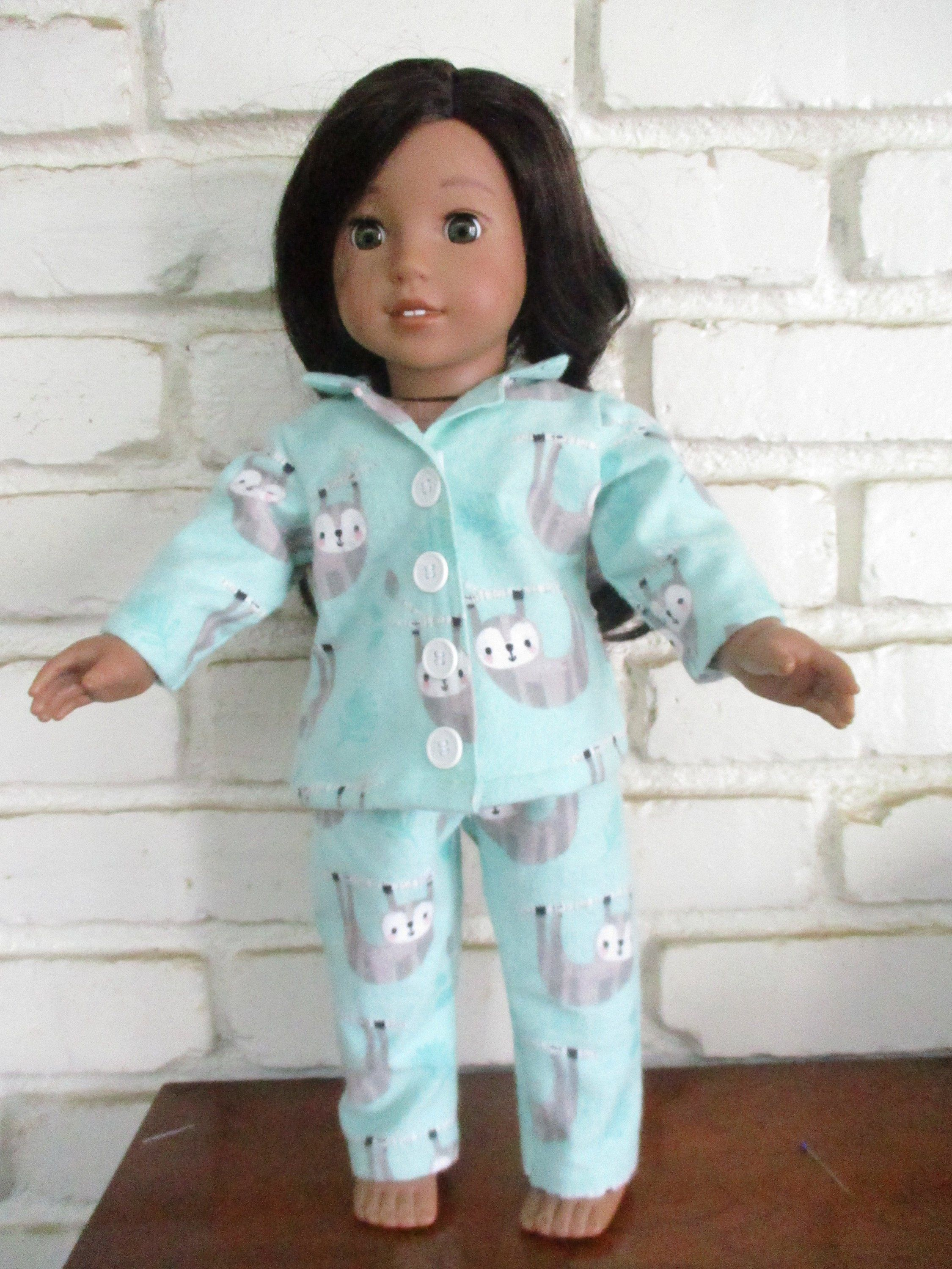 Doggie Lazy Summer Days Pajama Set 18 in Doll Clothes Fits American Girl