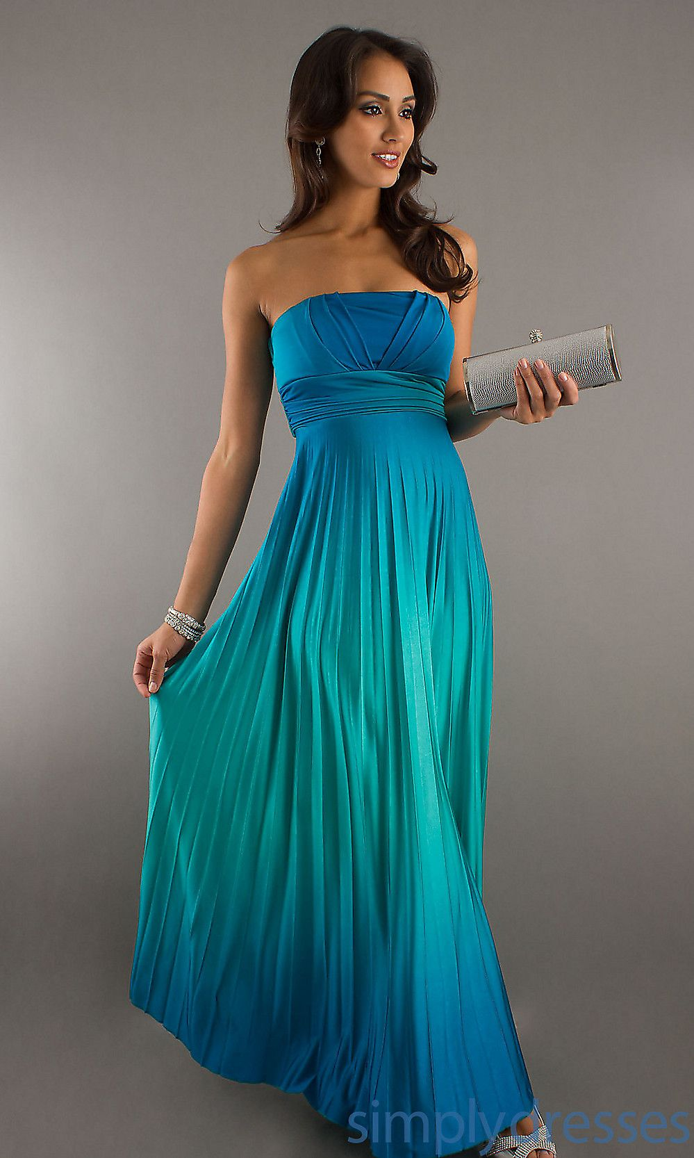Ombre bridesmaids dress lovely fine pleated formal dress my