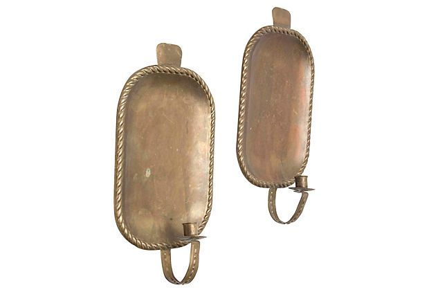 Brass Wall Candle Sconces