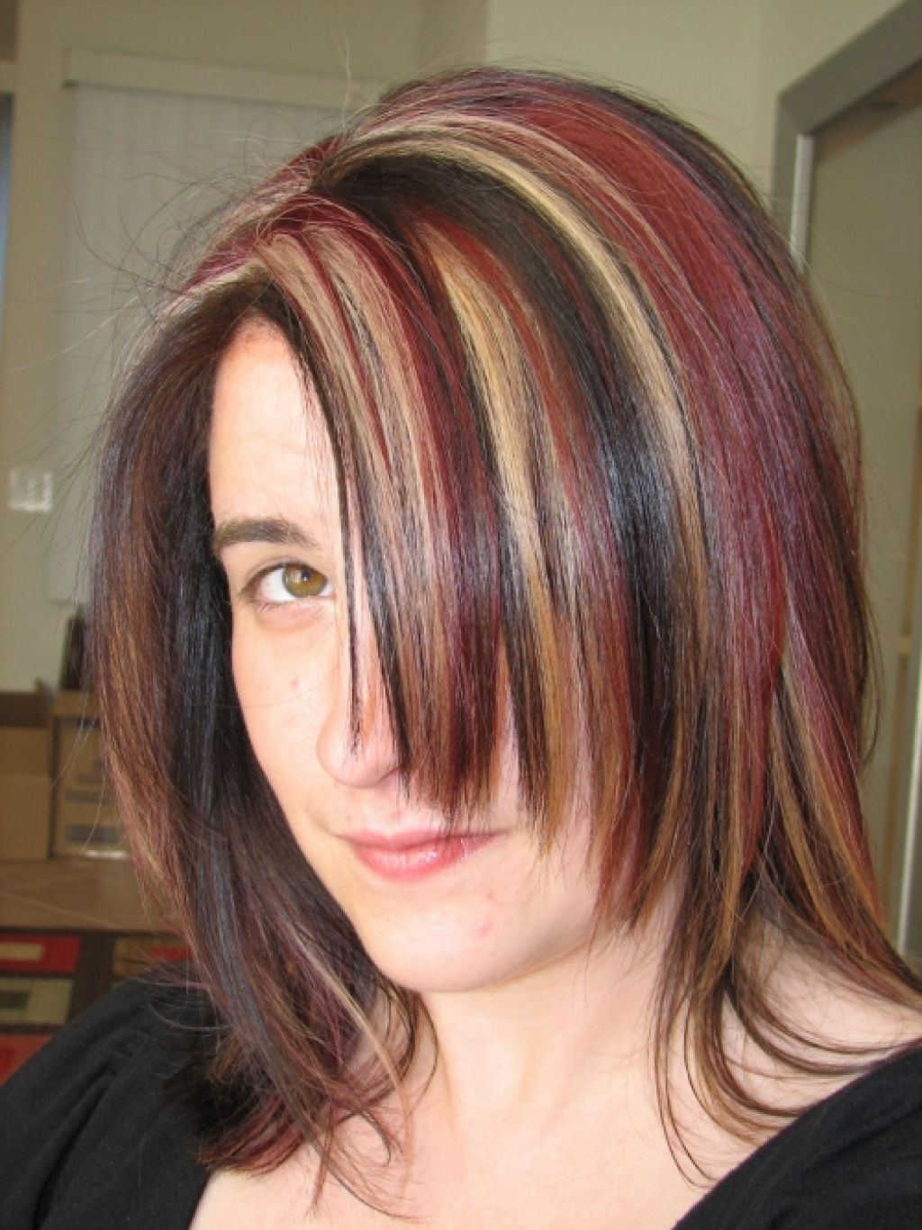 Pin by stacie flood on hair ideas pinterest red hair color brown hair with blonde and red highlights pictures brown hair fashion styles reference pmusecretfo Gallery