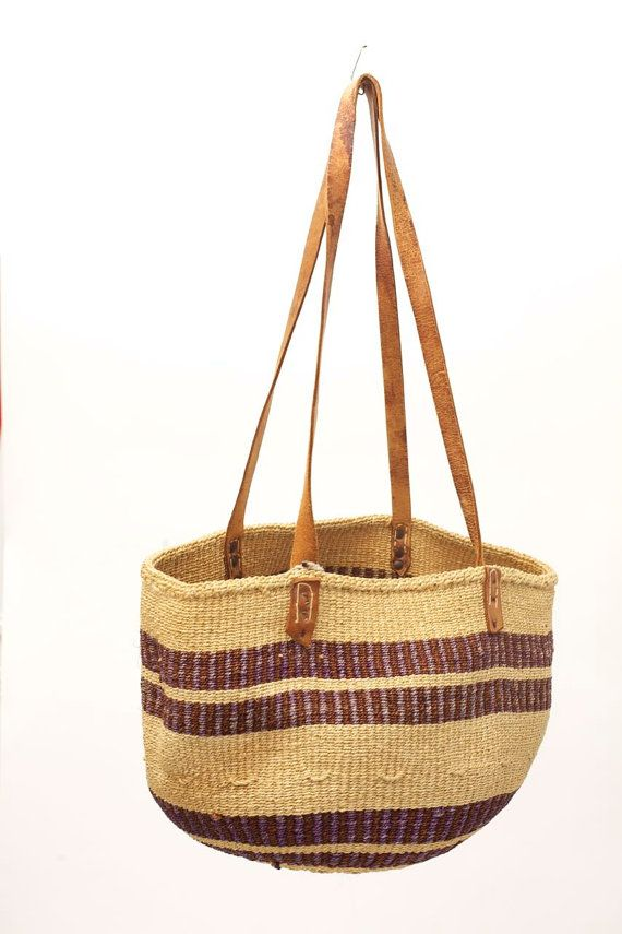 Woven Basket Bag by VintageCommon on Etsy, $24.99