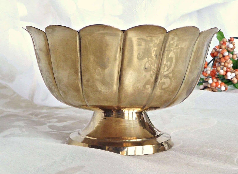 brass planter home decor brass pedestal planter bowl retro brass planter home decor brass pedestal planter bowl retro brass decor home and garden cottage decor retro home decor
