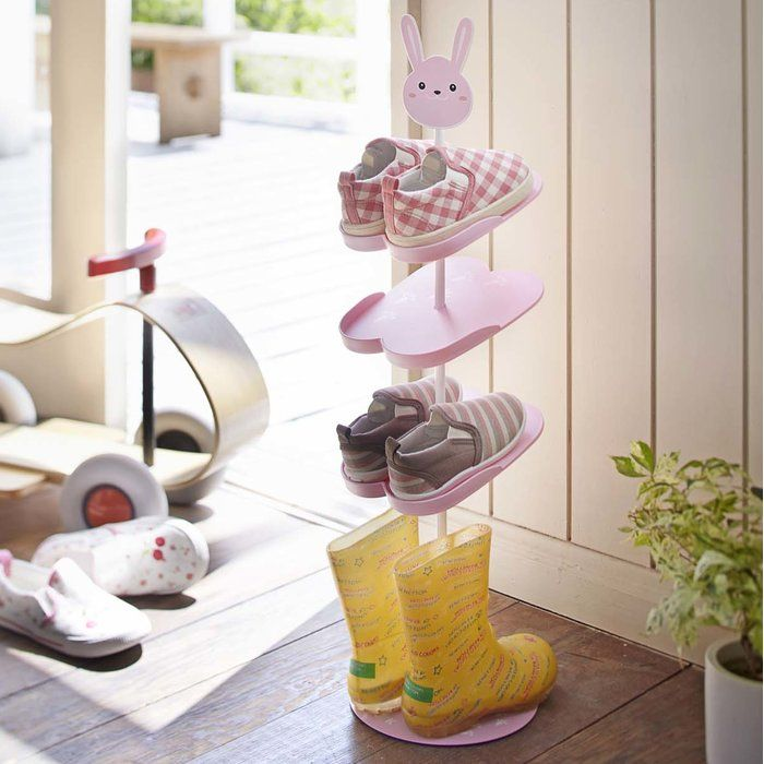 Kids 4-Tier 3 Pair Shoe Rack