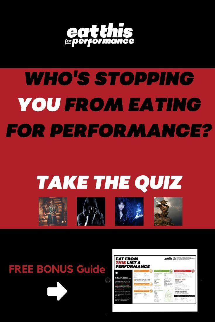 Quiz: The Enemy to your Performance Eating #athletefood