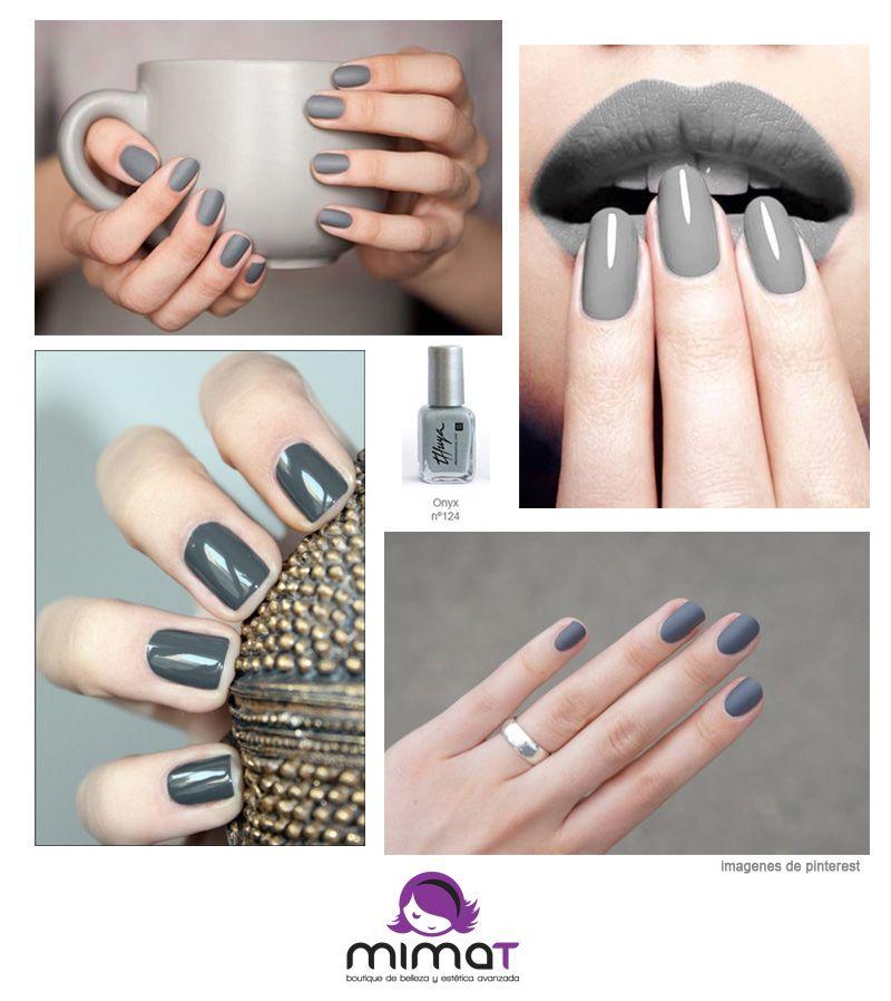 Te apuntas a la tendencia de las uñas grises? Nos gusta mucho el ...