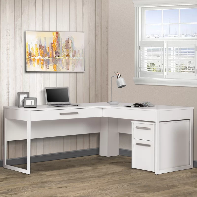 Latitude Run Uriegas L Shaped Executive Desk Wayfair 416 L Shaped Executive Desk Contemporary Home Office L Shaped Desk