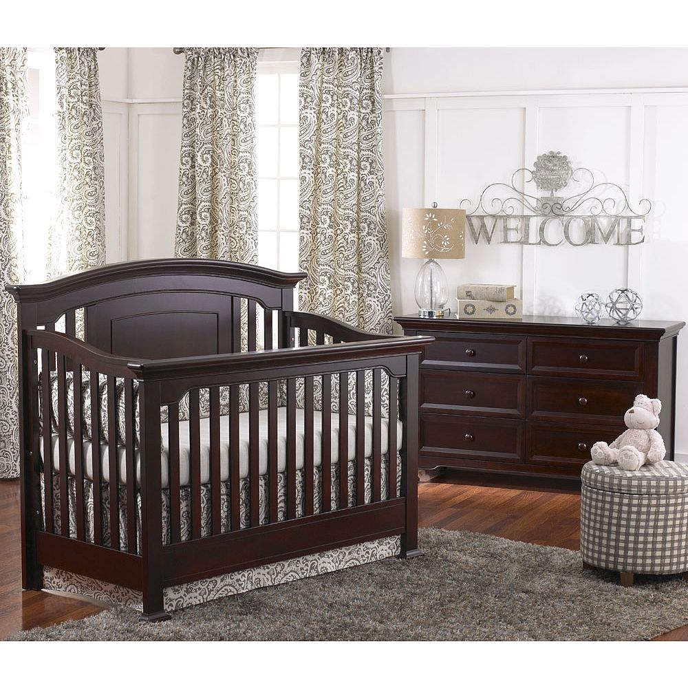 Crib protector babies r us - Baby Cach Windsor Lifetime Crib Espresso Baby Cache Babies R Us