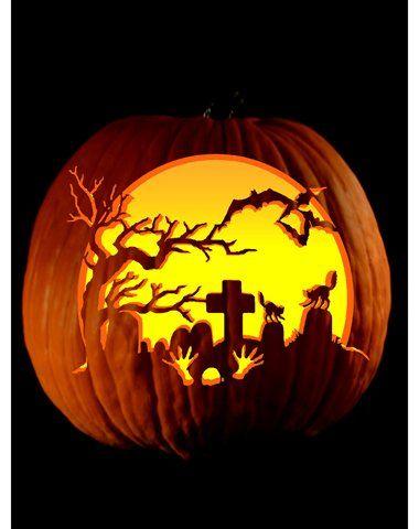 Cemetery Kurbisse Schnitzen Gruseligen Kurbis Schnitzen Gruselige Halloween Kurbisse
