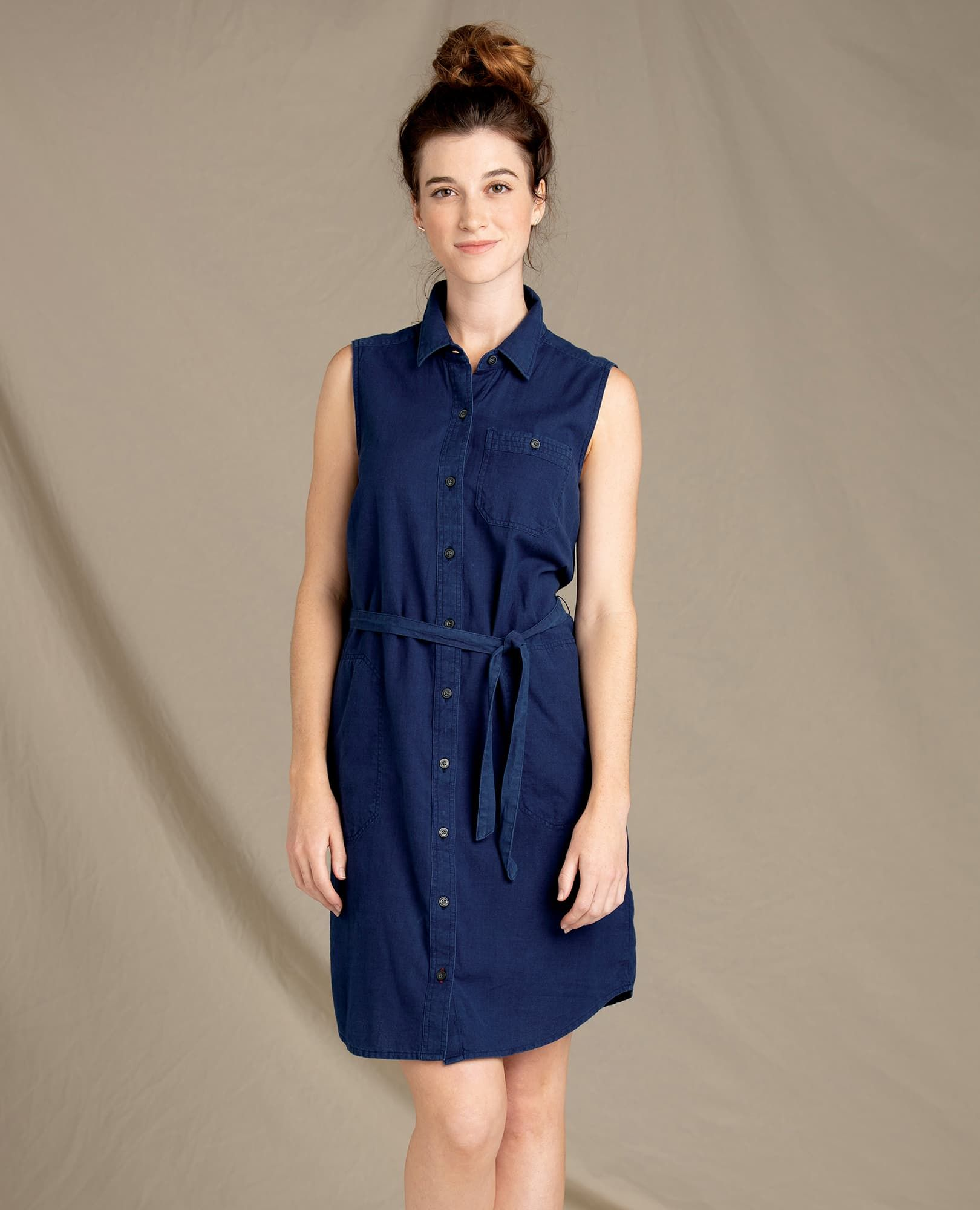 8e414546b0b Women's Indigo Ridge Sleeveless Tie Dress | 100% Organic Cotton Dress by  Toad&Co