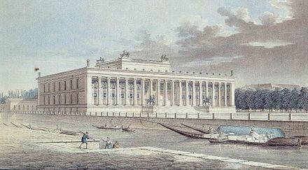 Das Alte Museum In Einer Radierung Von Friedrich Alexander Thiele Um 1830 Altes Museum Museum Neues Museum