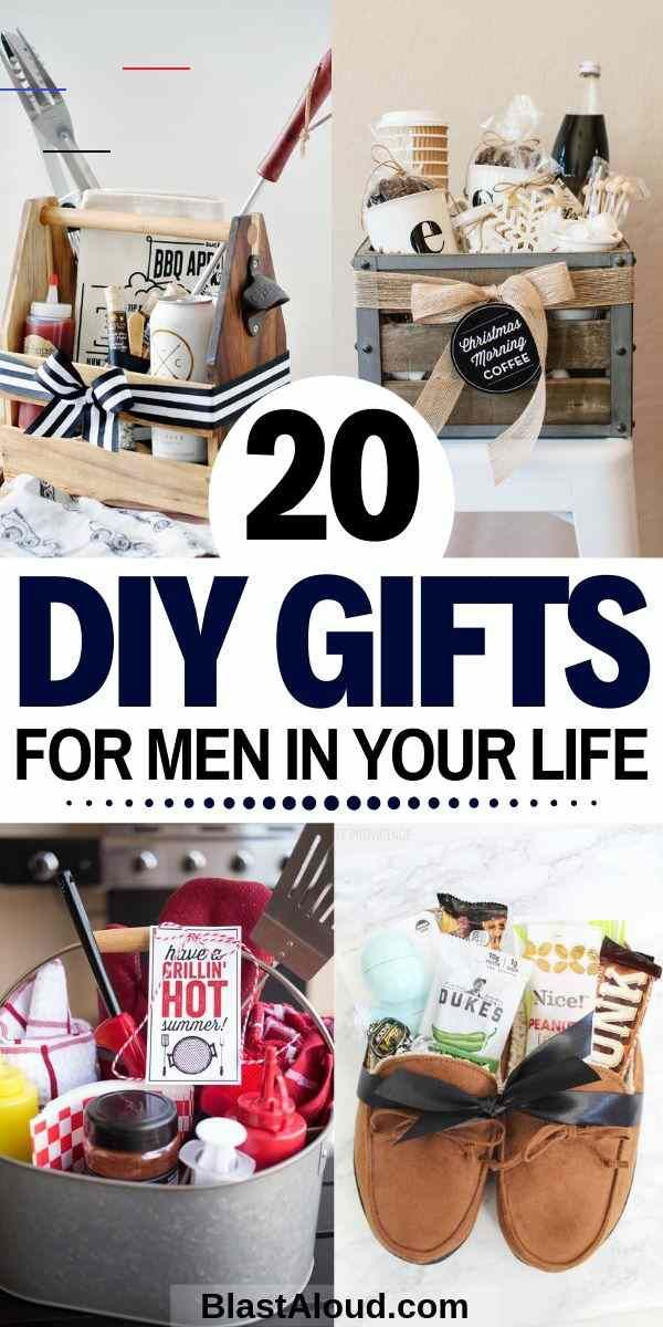 Gift Baskets For Men: 20 DIY Gift Baskets For Him That He Will Love 20 Creative and easy DIY gift baskets for men. Spoil the men in your life with these easy DIY gifts that they will absolutely adore! #diygifts #giftsformen #giftsforhim<br> 20 DIY gift baskets for men that you can use as inspiration to give your guy the perfect gift. Customize & personalize these gift baskets however you want!
