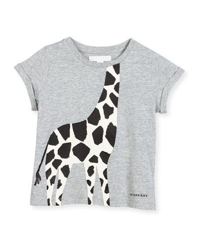 2e5c6f09798 Z1NWX Burberry Cotton Giraffe Jersey Tee