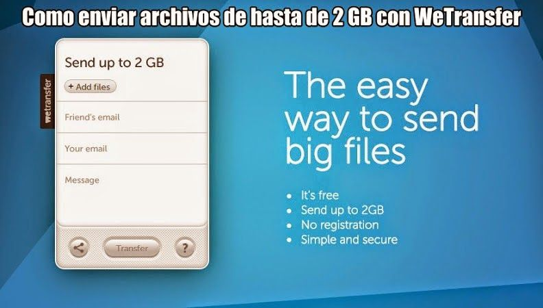 foto con wetransfer