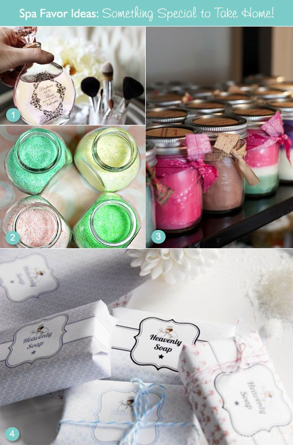 diy spa themed favor ideas from soy candles to bath salts